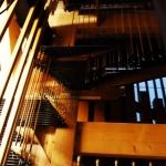 vue partielle des abrégés (transmission du mouvement des claviers vers les différents parties de l'instrument)