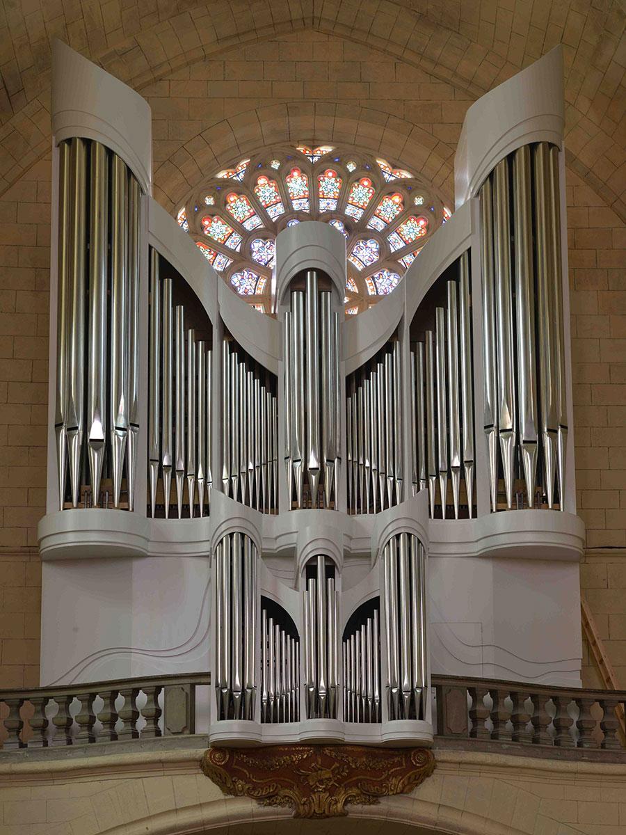 Pascal Quoirin, facteur d'orgues, pour l'orgue Saint Pierre de la Réole en aquitaine près de Bordeaux