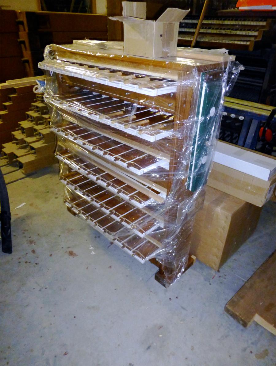 Machine Barker après restauration (sous emballage pour protection)