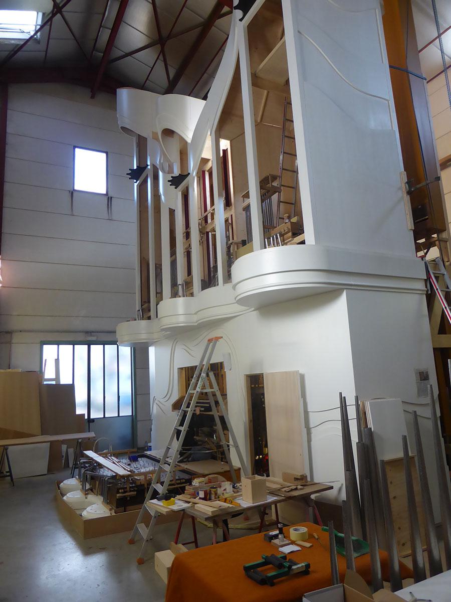 vue d'ensemble du chantier en atelier