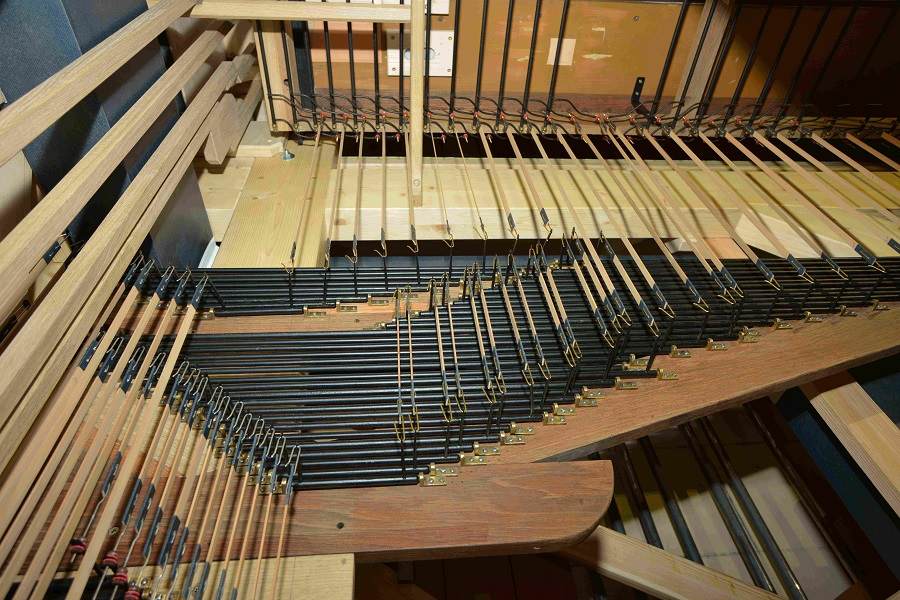 mécanique de notes et de jeux du clavier de grand-orgue