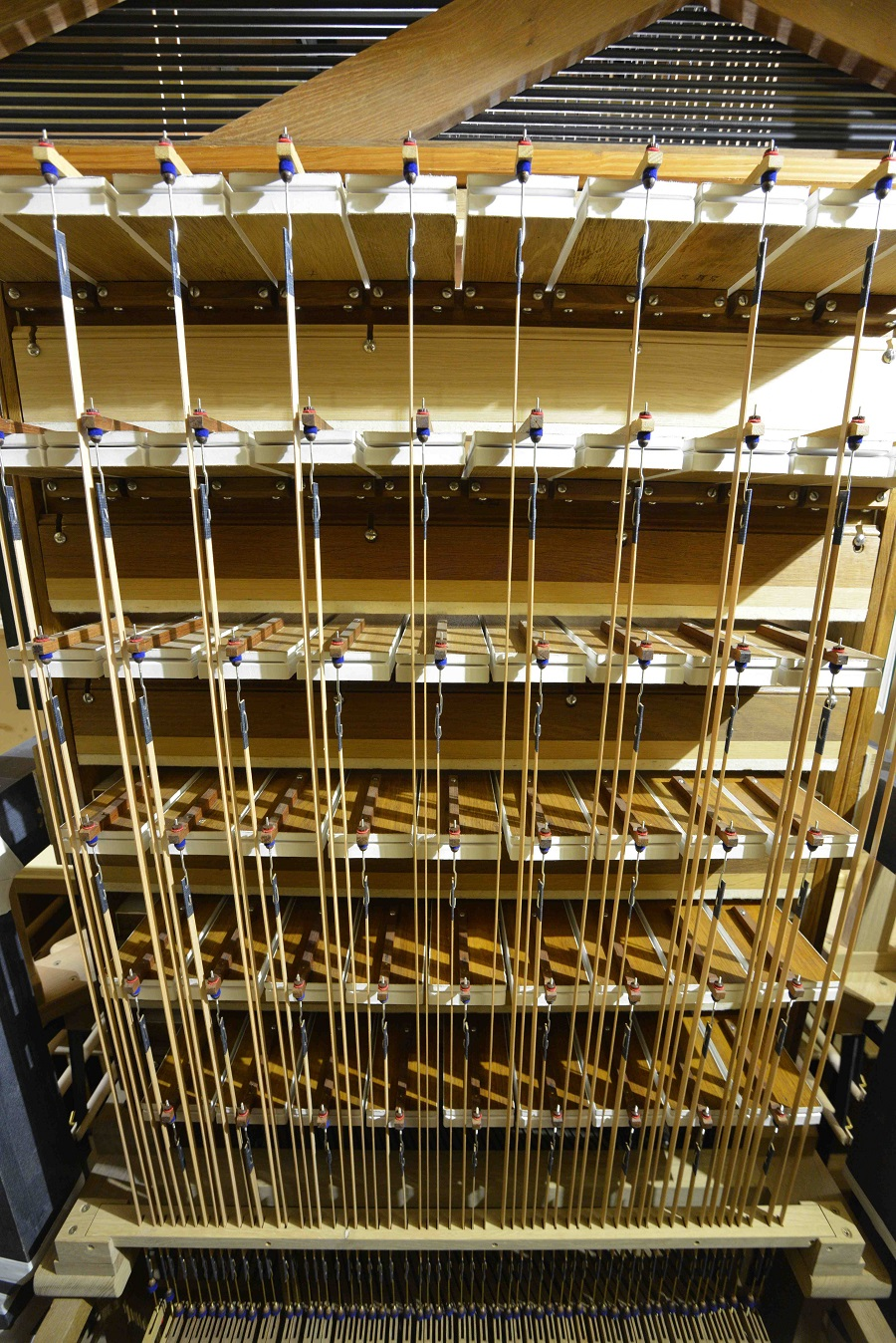 machine Barker pour le clavier de grand orgue et les accouplements